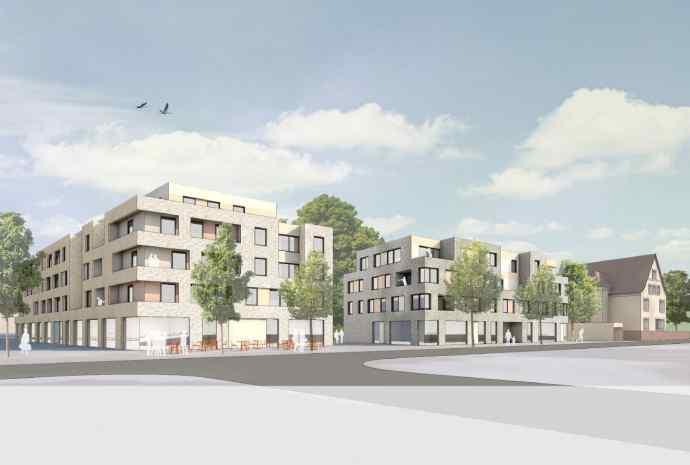 Neubau: modernes Quartier mit 5.400 m² Wohnfläche und 1.800 m² Büro- und Einzelhandelsfläche